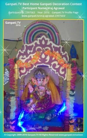 Vraj Agrawal Ganpati Decoration