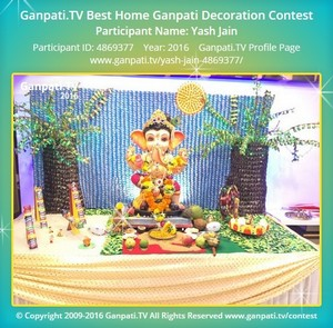 Yash Jain Ganpati Decoration