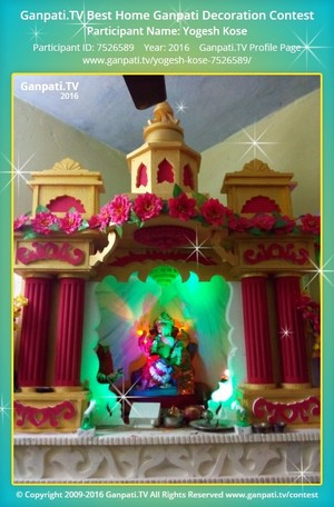 Yogesh Kose Ganpati Decoration
