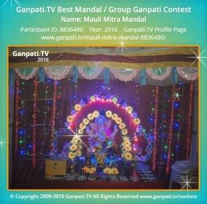 Mauli Mitra Mandal Ganpati Decoration