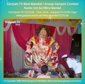 Om Sai Mitra Mandal Ganpati Decoration