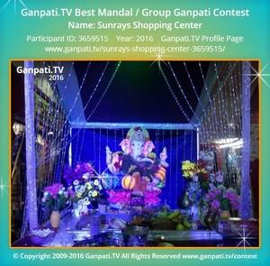 Sunrays Shopping Center Ganpati Decoration