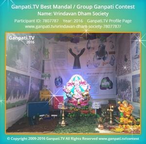 Vrindavan Dham Society Ganpati Decoration